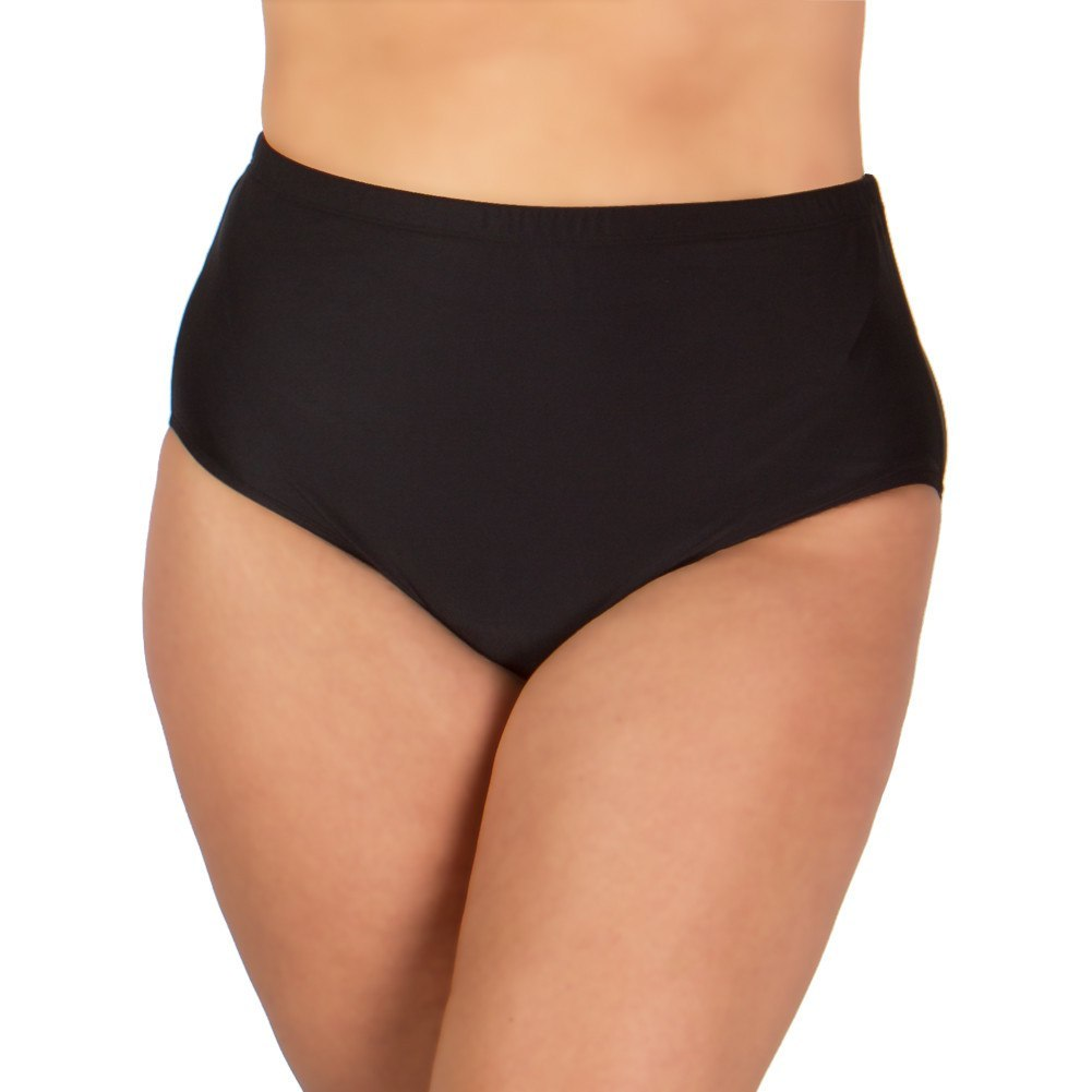 *30% OFF* Plus Size Swim Pant by Christina - Black - Swim Separates - Christina-SwimsuitsJustForUs.com, Plus Size Women's Swimwear, Plus Size Ladies Swimwear, Plus Size Bathing Suits, Plus Size Tankini Swimsuits, Plus Size Swim Tops,