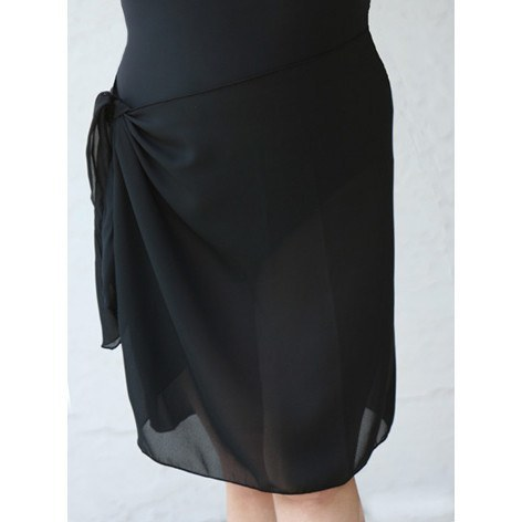 Black Sarong, Plus Size Pareo, Short - Black