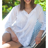 Plus Size Swim Cover Up From West Indies Wear - Sea Garden - 2 Colors Available