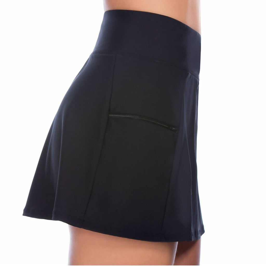 77a99d85394b4 Skort Swim Bottom with Boy Leg Short - Available in BLACK and NAVY - Swim  Separates