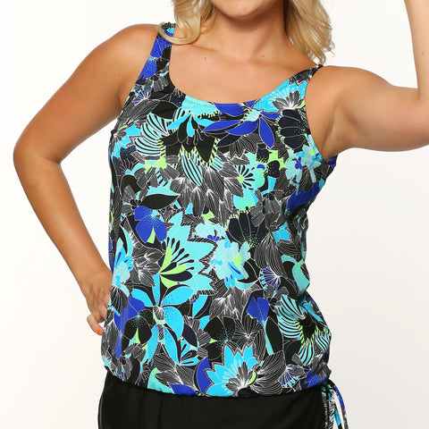 Topanga Long Women's Swimwear Top - Amazon Floral