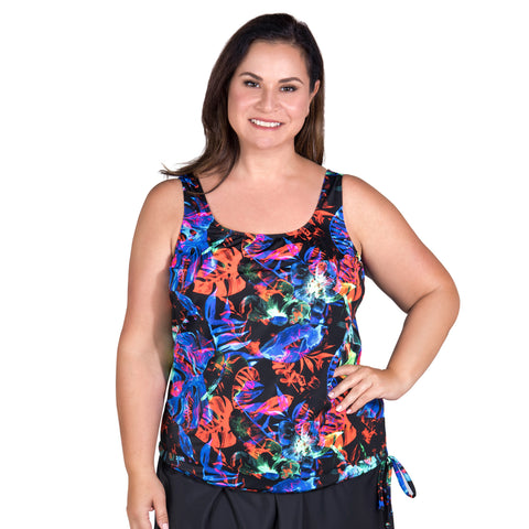 Women's Long Swimwear Top by Topanga - Neon Nights