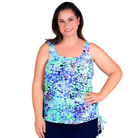 Women's Long Swimwear Top by Topanga - Caribbean Colors