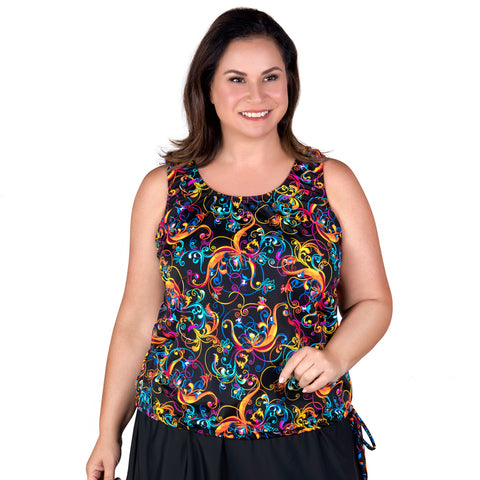 Wear Your Own Bra Plus Size Swimwear Top - Day Dreaming Tangerine