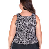 Wear Your Own Bra Plus Size Swimwear Top - Leaf Play
