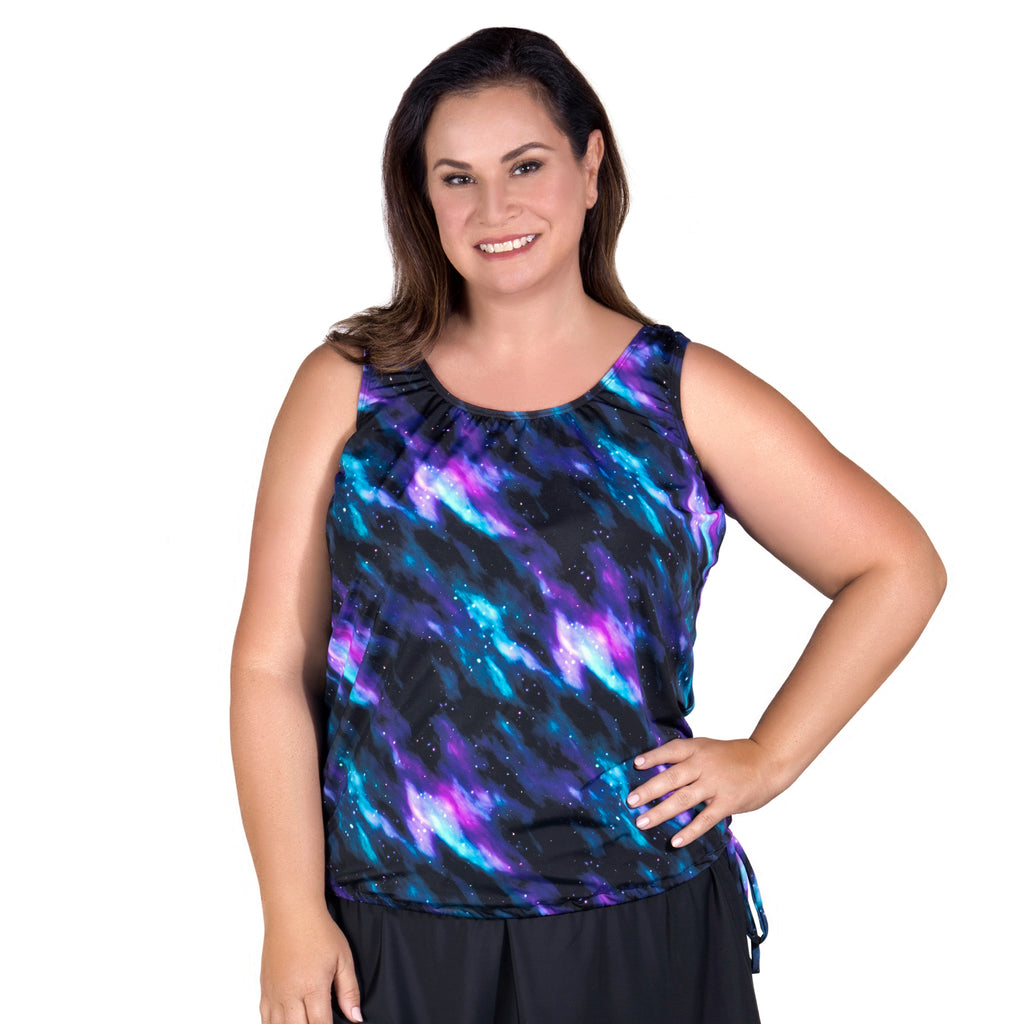 Wear Your Own Bra Plus Size Swimwear Top - Night Sky