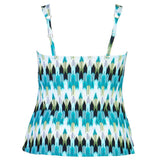 Waterfall Effect Plus Size Tankini Swim TOP - Swim Separates - Captiva-SwimsuitsJustForUs.com - 2