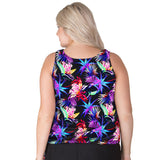 Wear Your Own Bra Plus Size Swim Top - Paradise - Swim Separates -T.H.E. Swimwear - SwimsuitsJustForUs.com - Back