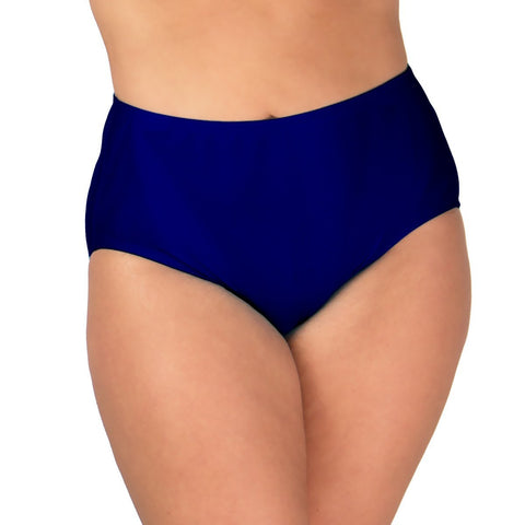 Plus Size Women's Navy Swim Panty | Pair w/ Plus Size Swim Tops
