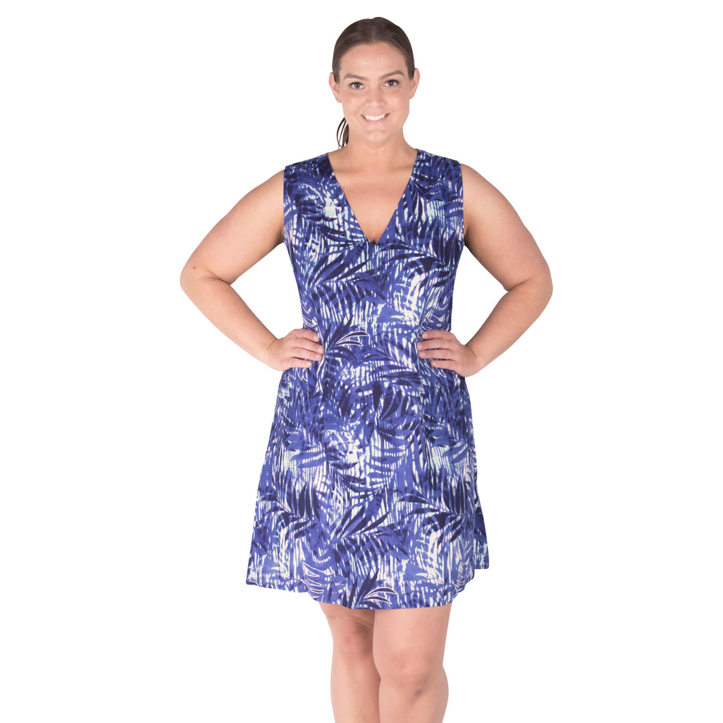 Plus Size Swim Cover Up - Easy On Cover Up Dress - Whispering Wind