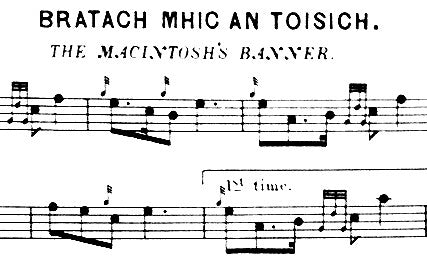 MacIntosh's Banner - written music