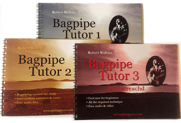 Bagpipe Tutor Books 1-3: Sixty lessons with free audio and video