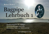 Bagpipe Tutor Books 1-3 in German: Sixty lessons with free audio and video