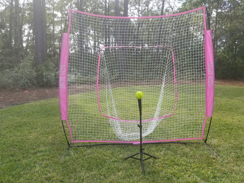 Pink Large Mouth Hitting Net -  Support Breast Cancer Awareness