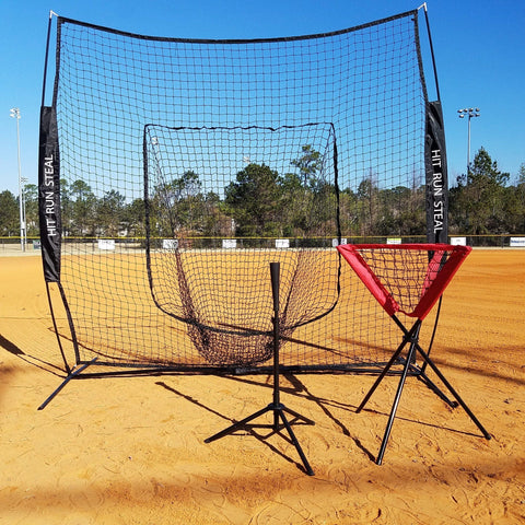 Black Softball Net Tee Ball Caddy