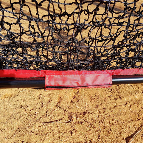 Baseball Softball Large Mouth Hitting Net -  7 x 7 Practice Net with Bow Frame LIFETIME WARRANTY With Strike Zone Attachment