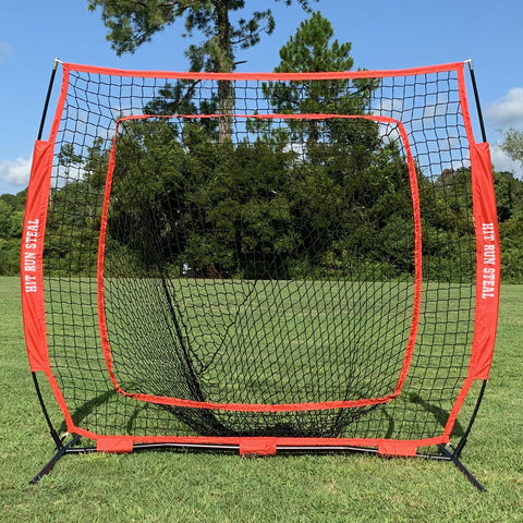 Portable Baseball and Softball Hitting Net - 5 x 5 Large Mouth Net
