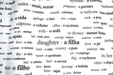 Portuguese Vocabulary Shower Curtain