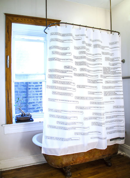 English Grammar Shower Curtain