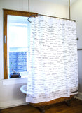 Italian Vocabulary Shower Curtain