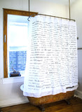 Japanese Vocabulary Shower Curtain