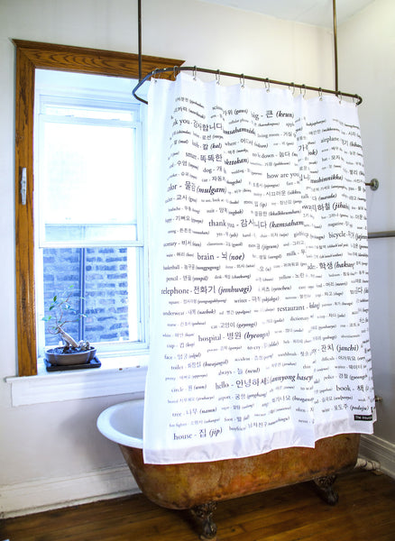 Korean Shower Curtain