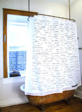 Spanish Vocabulary Shower Curtain