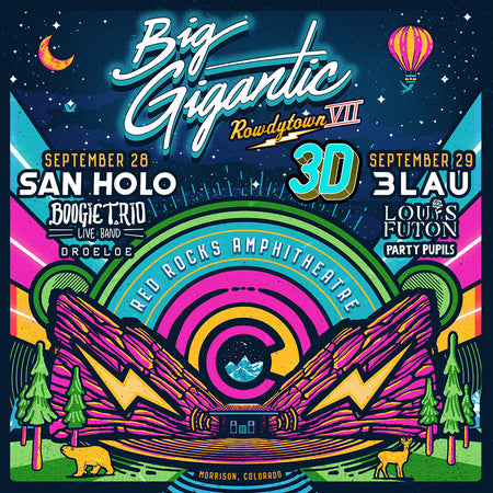 Big Gigantic Rowdytown // Red Rocks Backstage Package