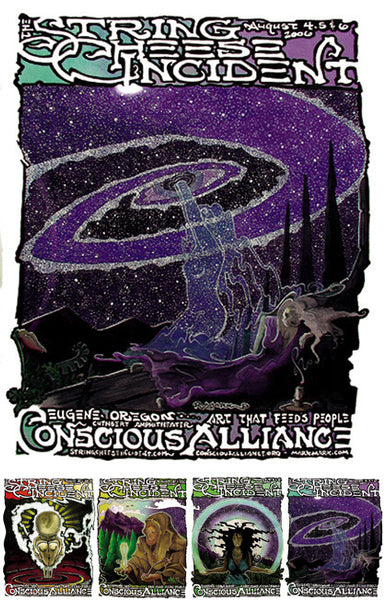 String Cheese Incident Redmond / Eugene - 2006 (4 Panel)
