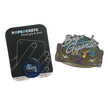 BIG GIGANTIC ROWDYTOWN VII PIN & POP SOCKET SET - 2018