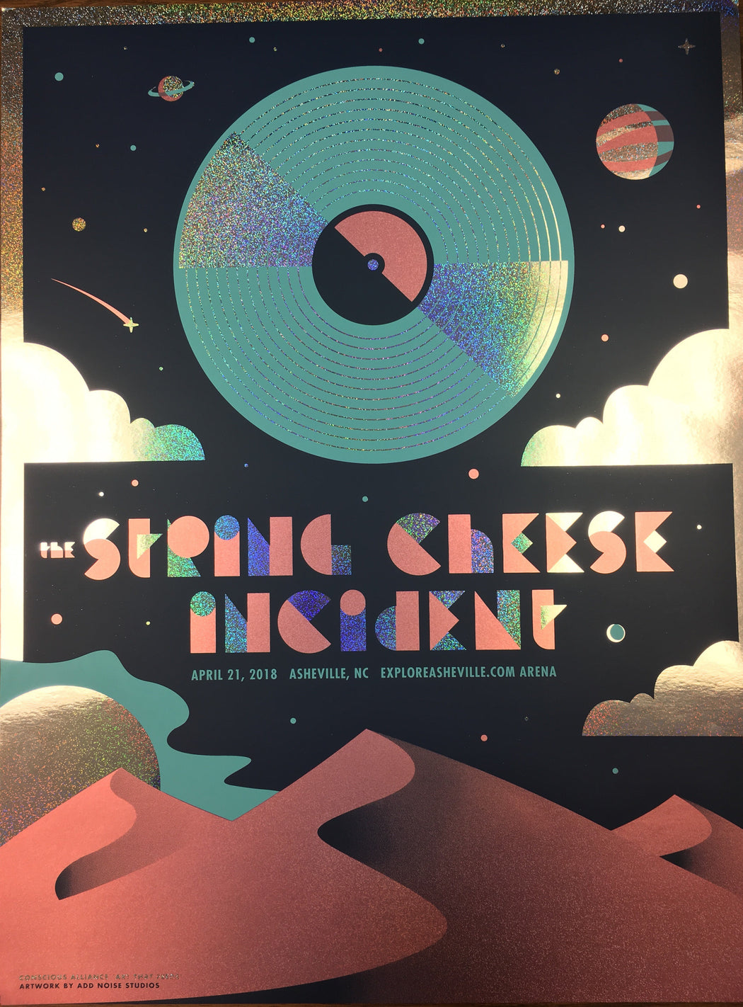 STRING CHEESE INCIDENT ASHEVILLE - 2018 (FOIL VARIANT)