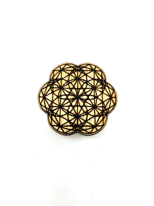 Wood Pin - Sacred Geometry