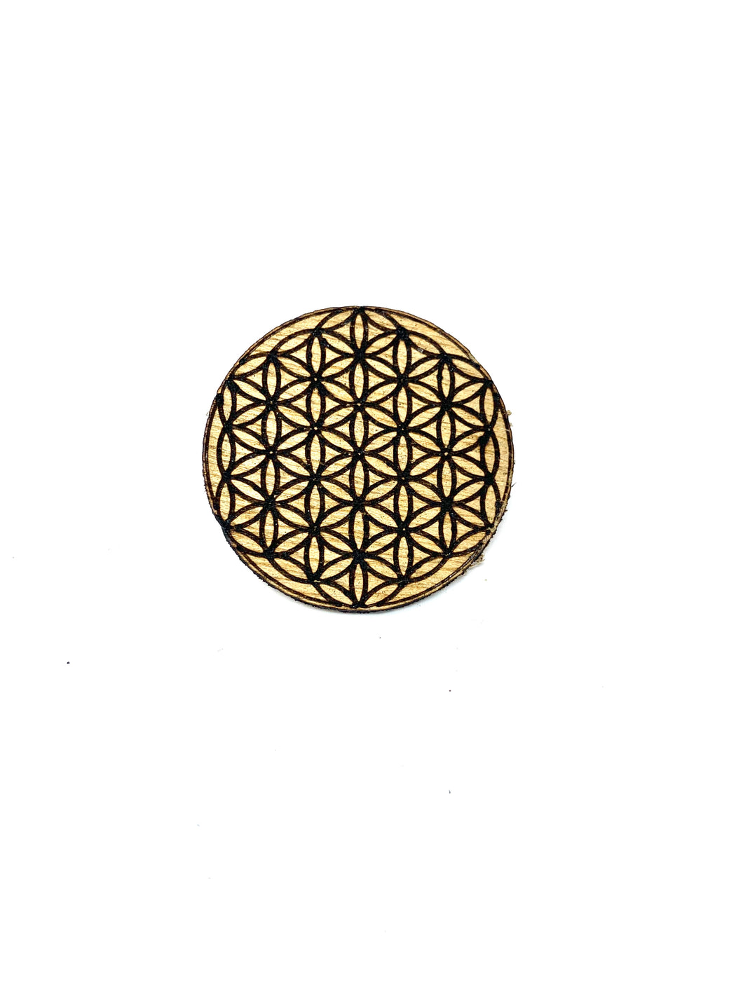 Wood Pin - Flower of Life