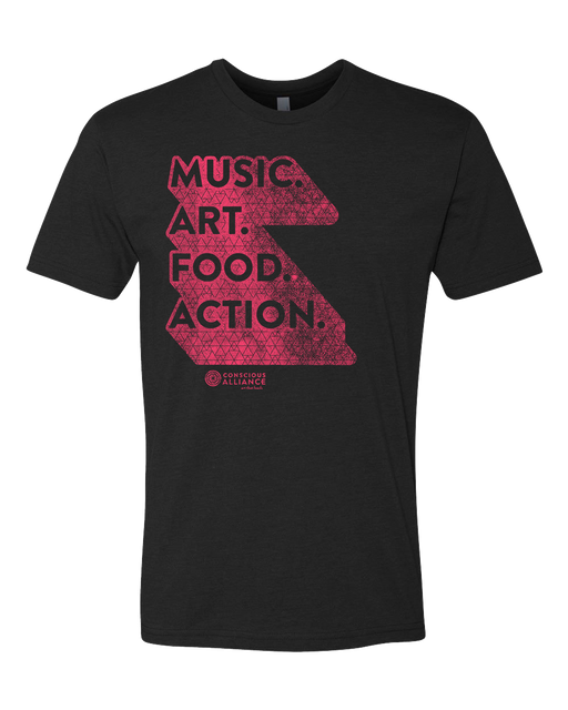 Music. Art. Food. Action. T-Shirt