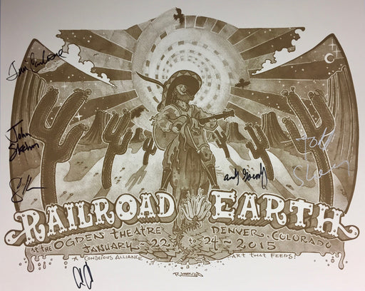 Railroad Earth (Tan & White) - 2015