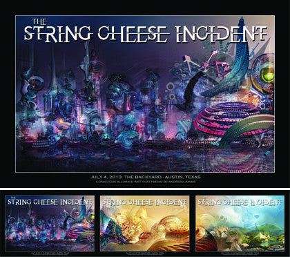 String Cheese Incident Austin - 2013 (3 Panel)