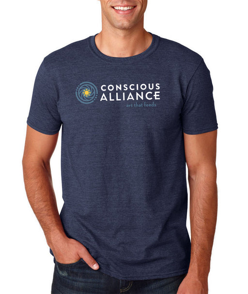 CONSCIOUS ALLIANCE LOGO T-SHIRT - NAVY