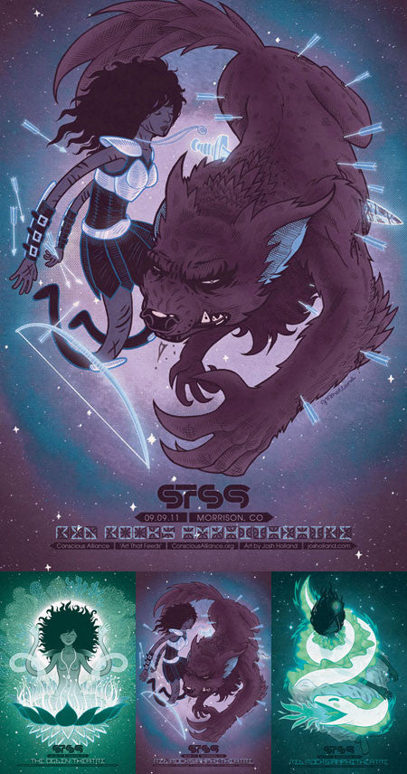 STS9 Red Rocks Amphitheatre - 2011 (2 Panel)