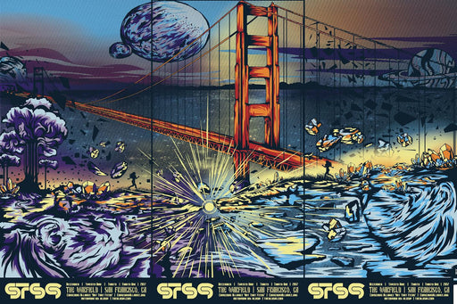 STS9 San Francisco - NYE 2017 (3 Panel)