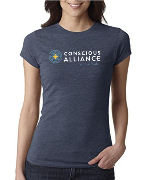 CONSCIOUS ALLIANCE LOGO T-SHIRT - INDIGO