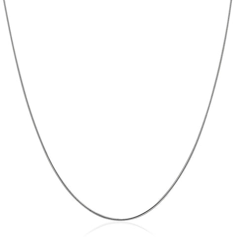 Sterling Silver Round Omega 1.25 mm Chain