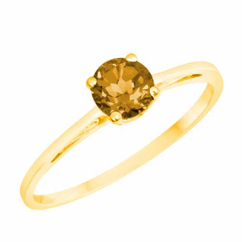 18k Yellow Gold 1/2 Ct Citrine Solitaire Ring