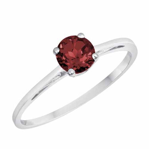 Platinum 1/2 Ct Ruby Solitaire Ring
