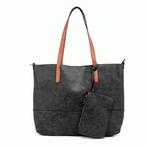 Joy 2 in 1 Tote - Brushed Black