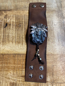 Paula Carvalho's Cheif Leather Cuff