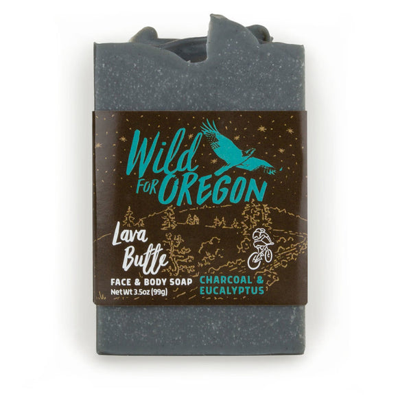Wild For Oregon Lava Butte Charcoal & Eucalyptus Bar Soap