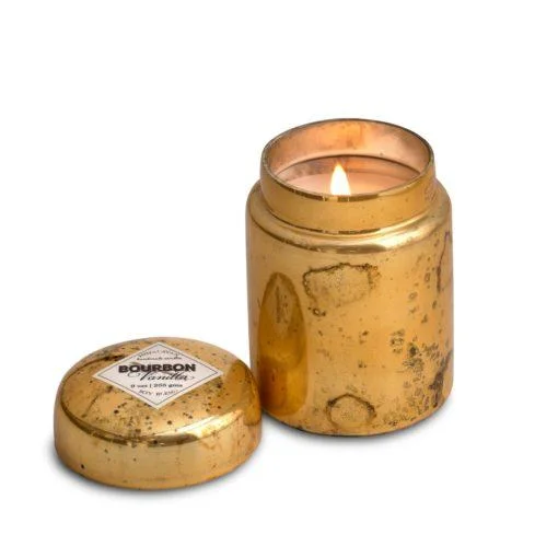 Himalayan Mountain Fire Glass Candle - Vanilla Bourbon