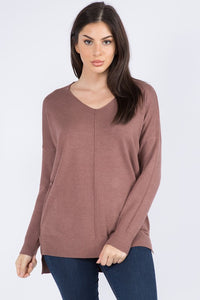 RM Christi Front Seam Sweater -  Fig