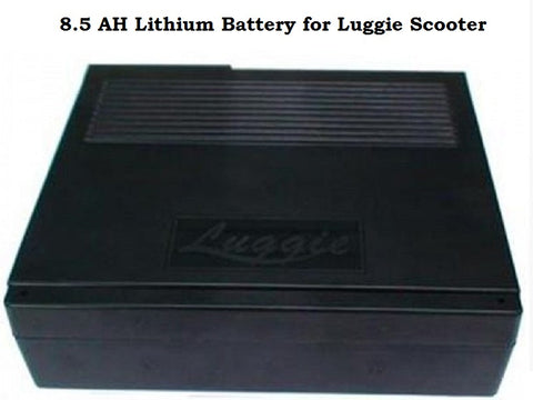 8.5 AH Lithium Battery for Luggie Scooter