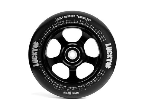 Black - Black Lucky Atom Scooter Wheel 110mm